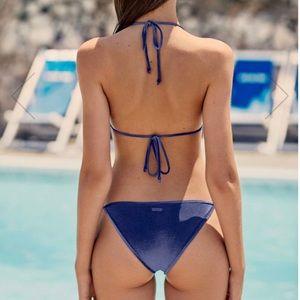Blue velvet style bikini